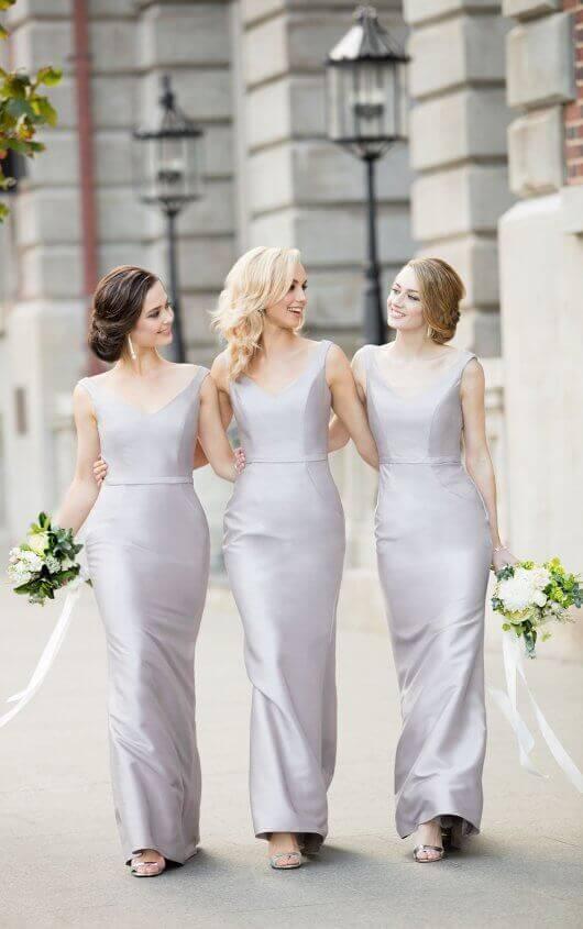 Silver/Gray Bridesmaid Dresses from Sorella Vita