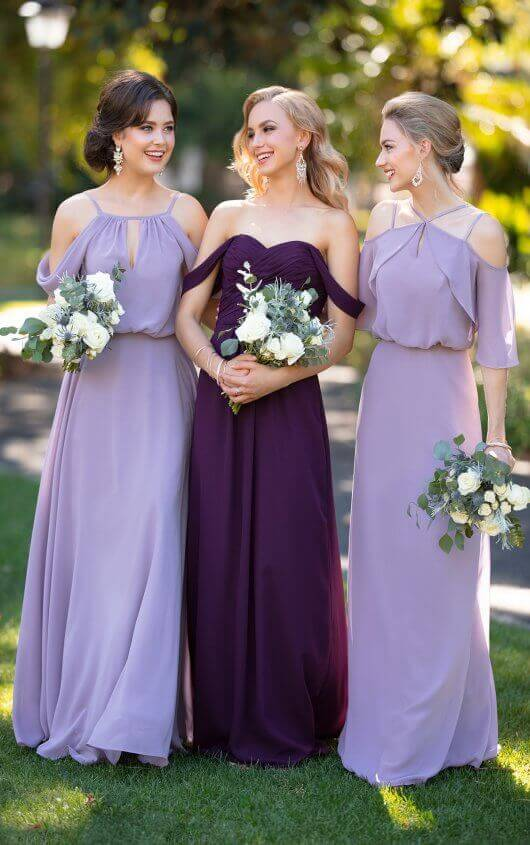 Purple and Lilac colored Sorella Vita Bridesmaid Dresses in Kansas City