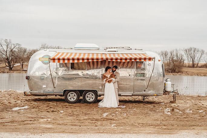 boho airstream styled shoot -wedding dresses in overland park