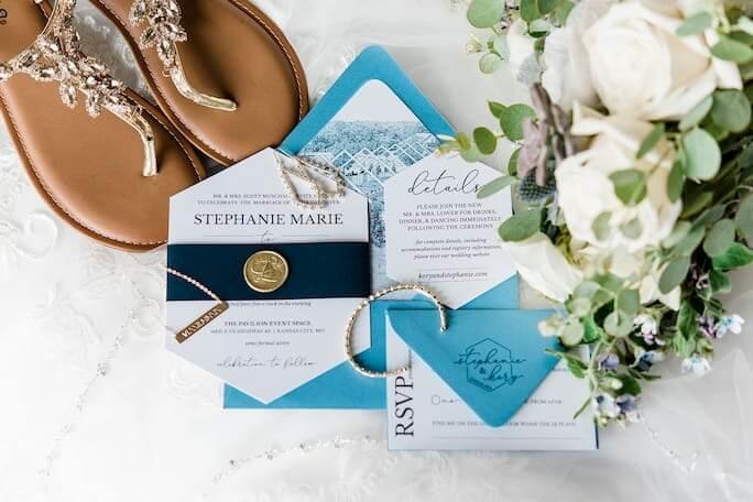 Real Bride Stephanie's wedding invites