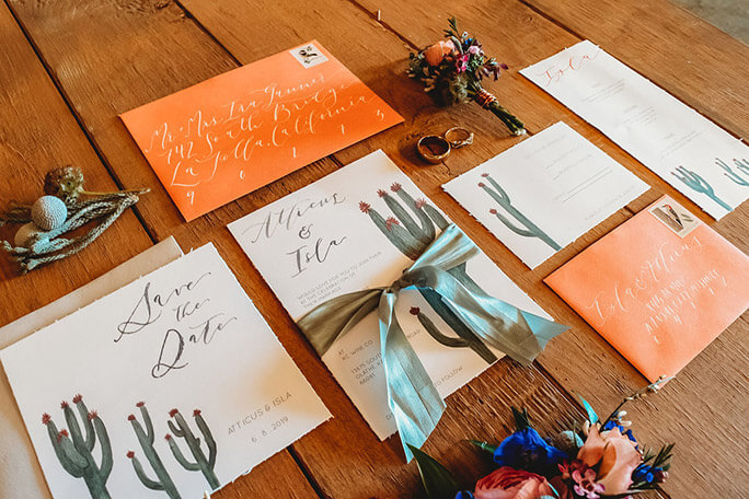 boho wedding invites