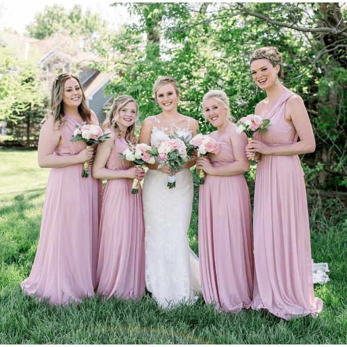 Essense of Australia Style D2478 and bridesmaids