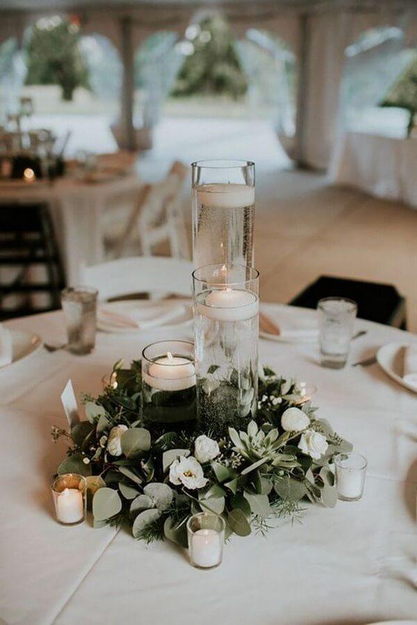 simple wedding centerpiece