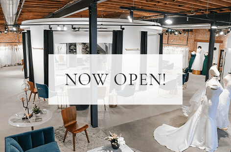 Our Bridal Shop located in the Crossroads Arts District is now back open!