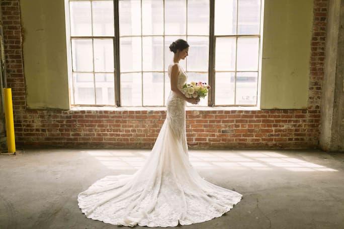 True Bride Catie wearing Style D2680 from Essense of Australia
