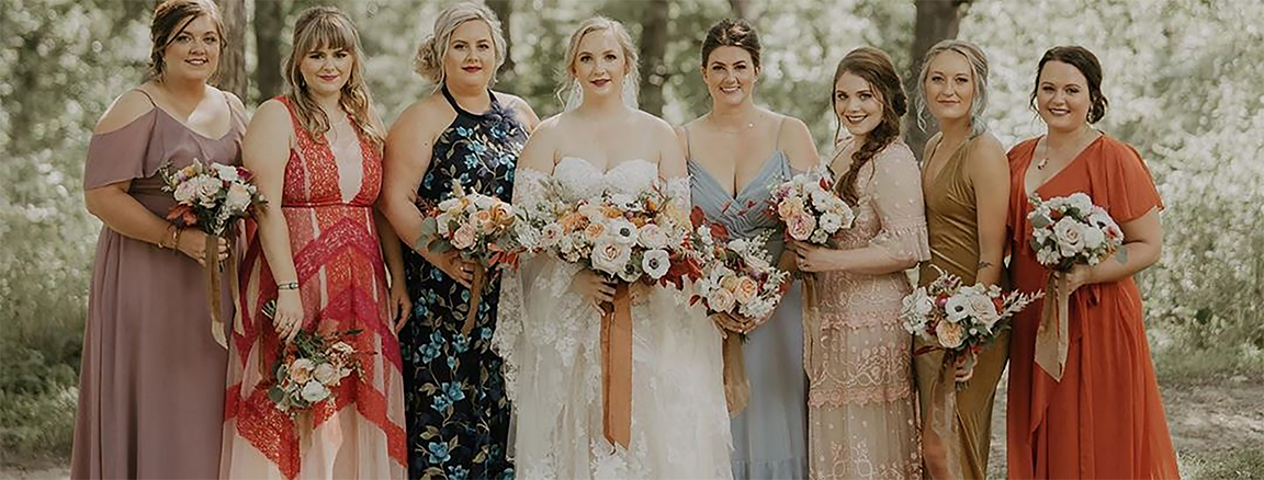 Image for An Expert Guide to Mismatched Bridesmaid Dresses
