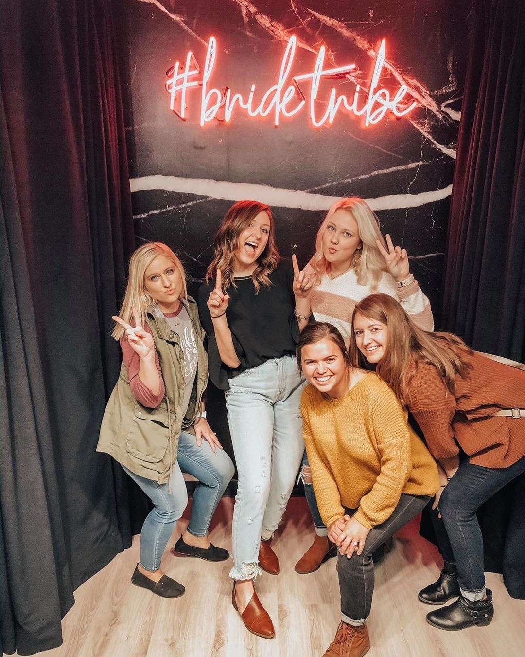 Bride tribe at True Society by Belle Vogue Bridal