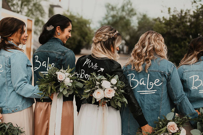 Customized jackets for bridesmaid proposal