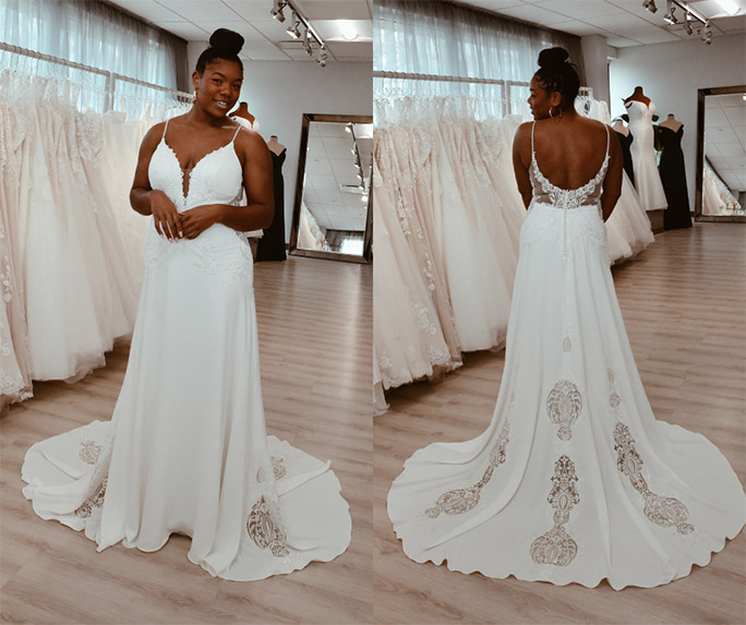 clean look wedding dress - style delta by all who wander