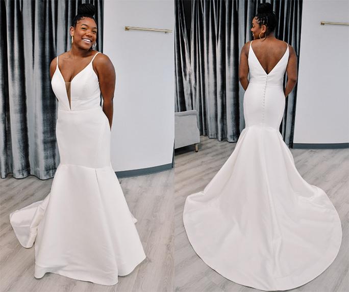 minimal wedding dress - style d3223 by essense of australia
