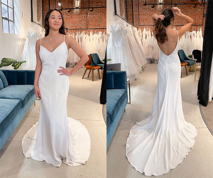 simple wedding dress - style 1319 by martina liana