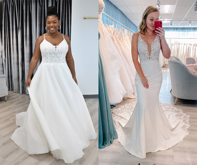 simple wedding gown - style by oxford street