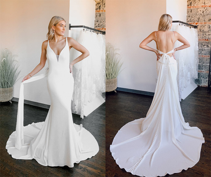 casual wedding dress - style 7290 by stella york